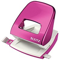 Leitz NeXXt WOW Hole Punch, Pink, Punch capacity: 30 Sheets