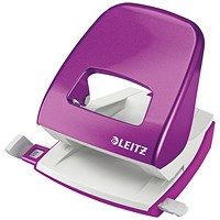 Leitz NeXXt WOW Hole Punch, Purple, Punch capacity: 30 Sheets