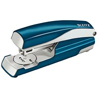 Leitz NeXXt WOW Stapler, 3mm, 30 Sheet Capacity, Blue