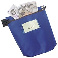 Large Blue Cash Bag
