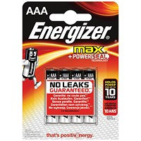 Energizer Max AAA/E92 Batteries - Pack of 4