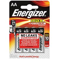 Energizer Max AA/E91 Batteries - Pack of 4