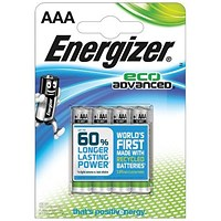 Energizer Eco Advance Batteries / AAA/E92 / Pack of 4