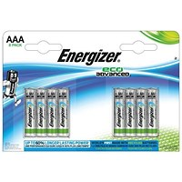 Energizer Eco Advance Batteries / AAA/E92 / Pack of 8