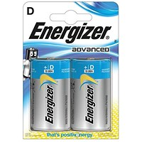 Energizer Eco Advanced Batteries D / E95 / Pack of 2