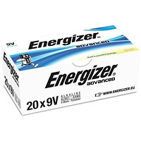 Energizer Eco Advanced 9V/522 Batteries - Pack of 20