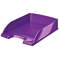 Leitz Bright Stackable Letter Tray - Glossy Metallic Purple