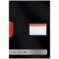 Black n' Red A4 Swing Clip Files, Black, Pack of 5