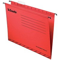 Esselte Classic Reinforced Suspension Files, Foolscap, Red, Pack of 25