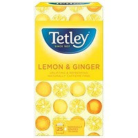 Tetley Green Tea with Lemon & Ginger Tea Bags - Pack of 25
