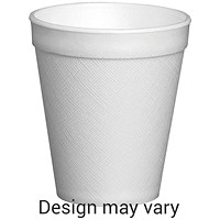 Foam Insulated Cup, 7oz, White, Pack of 25