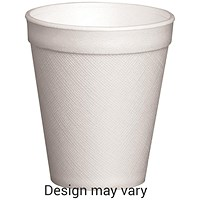 Foam Insulated 10oz Cup, White, Pack of 20