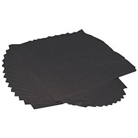 Cocktail Napkins, 2-Ply, 250x250mm, Black, Pack of 250