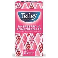 Tetley Raspberry and Pomegranate Tea Bags - Pack of 25