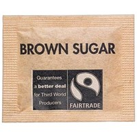 Fairtrade Brown Demerara Sugar Sachets - Pack of 1000