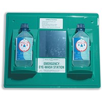 Wallace Cameron First-Aid Emergency Eyewash Station, 2x500ml Bottles, W445xH342mm