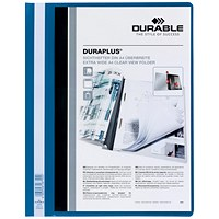 Durable A4 Duraplus Quotation Folders, Blue, Pack of 25
