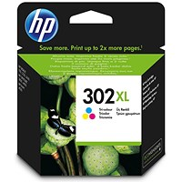 HP 302XL High Yield Ink Cartridge Tri Colour