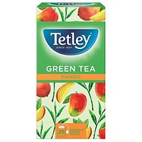 Tetley Green Tea with Mango Tea Bags - Pack of 25