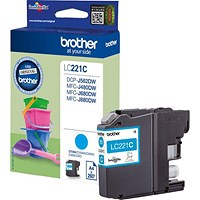 Brother LC221 Cyan Inkjet Cartridge