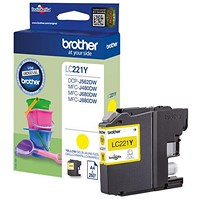 Brother LC221 Yellow Inkjet Cartridge