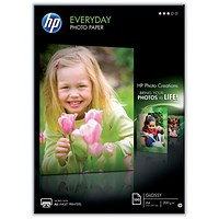 HP A4 Everyday Glossy Photo Paper, White, 200gsm, Pack of 100