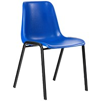 Trexus Visitor Chair, Polypropylene, Blue