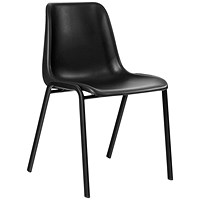 Trexus Visitor Chair, Polypropylene, Black
