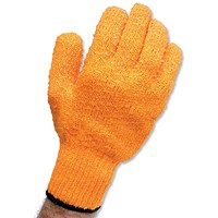 Knitted Grip Gloves, PVC Lattice, One Size, Pair