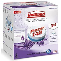 UniBond Pearl Moisture Absorber Refill Ultra-absorbent Aromatherapy Lavender [Pack 2]