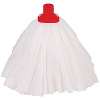 Robert Scott & Sons Big White Large Mop Head / Socket / Red / Pack of 10