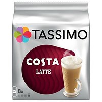 Tassimo Costa Latte - Pack of 5