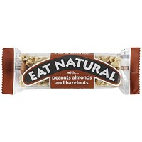 Eat Natural Energy Bar, Peanuts, Hazelnuts and Almonds, Pack of 12 (50g)