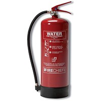 Firechief 9.0LTR Water Fire Extinguisher for Class A Fires