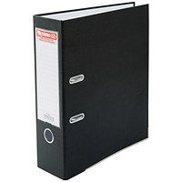 Jumbo A4 Lever Arch File, 85mm Capacity, Black