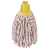 Robert Scott & Sons Smooth Surface Mop Head / Socket / PY Yarn / 12oz / Yellow / Pack of 10