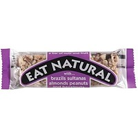 Eat Natural Bar, Brazil Nut, Sultana, Almond, Peanuts and Hazelnuts, Pack of 12 (50g)