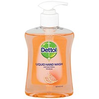 Dettol Antibacterial Hand Soap, Moistening, Grapefruit, 250ml