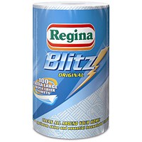 Regina Blitz Recycled Kitchen Towel, 3-Ply, 100 Sheets, White