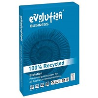 Evolution Business A3 Recycled Paper, White, 90gsm, Ream (500 Sheets)
