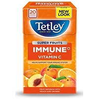 Tetley Super Fruits Peach & Orange Tea - Pack of 20