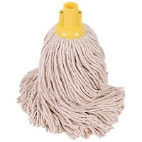 Robert Scott & Sons Smooth Surface Mop Head / Socket / PY Yarn / 16oz / Yellow / Pack of 10