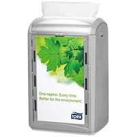 Tork Xpressnap Counter Napkin Dispenser, One-at-a-Time, Grey