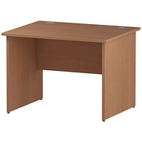 Trexus 1000mm Rectangular Desk, Panel Legs, Beech