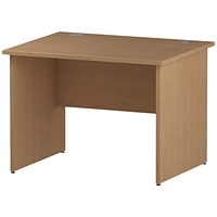 Trexus 1000mm Rectangular Desk, Panel Legs, Oak