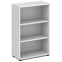 Trexus Medium Bookcase, 2 Shelves, 1200mm High, White