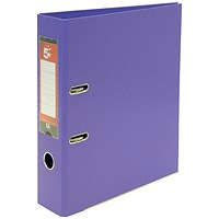 5 Star A4 Lever Arch Files, Plastic, Purple, Pack of 10