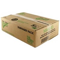 The Green Sack Refuse Sacks, Medium Duty, 30 Litre, 457x737x965mm, Black, Pack of 200
