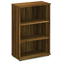 Trexus Medium Bookcase, 2 Shelves, 1200mm High, Walnut