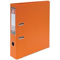 5 Star A4 Lever Arch Files, Plastic, Orange, Pack of 10
